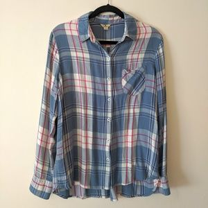 Woolrich Blue/Pink Flannel Button Front L